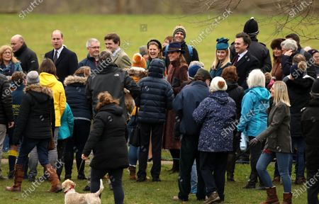 Prince William and Catherine Duchess of Cambridge, Lady Laura Meade (green outfit, centre), Carole and Michael Middleton, attended the St. Mary Magdalene Church Sunday morning service in Sandringham.