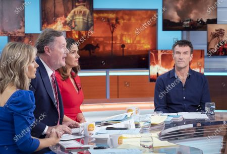 Stock Image of Charlotte Hawkins, Piers Morgan and Susanna Reid with Pat Cash