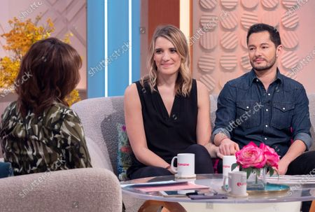 Stock Image of Lorraine Kelly with Hannah and Jake Graf