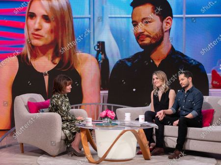 Lorraine Kelly with Hannah and Jake Graf
