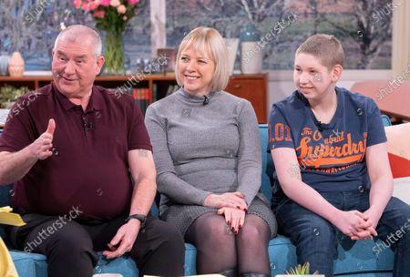Stock Image of John McDonald and Allison McDonald with Ewan McDonald