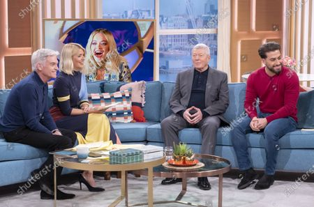 Phillip Schofield, Holly Willoughby, Alan Johnson and Kem Cetinay
