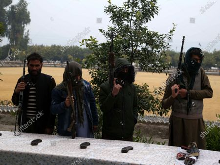 Editorial picture of Militants surrender their weapons as part of reconciliation initiative, Jalalabad, Afghanistan - 06 Jan 2020