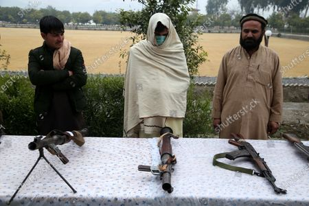 Former militants surrender their weapons during a reconciliation ceremony in Jalalabad, Afghanistan, 06 January 2020. A group of 20 former Taliban militants laid down their arms in Jalalabad and joined the peace process. Under an amnesty launched by former President Hamid Karzai and backed by the US in November 2004, hundreds of anti-government militants have surrendered to the government.