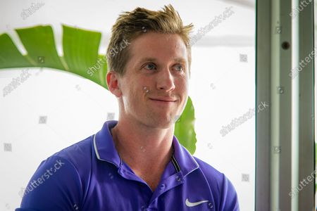 Tom Hill talks to the media at the 2020 Brisbane International WTA Premier tennis tournament