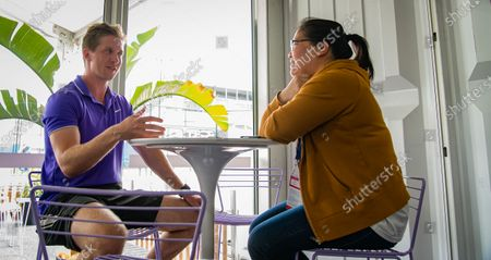Stock Photo of Tom Hill talks to the media at the 2020 Brisbane International WTA Premier tennis tournament