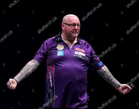 Andy Hamilton during the BDO World Professional Championships at the O2 Arena, London