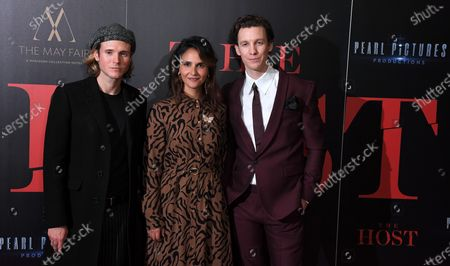 Stock Picture of Dougie Poynter, Maryam Hassouni and Mike Beckingham