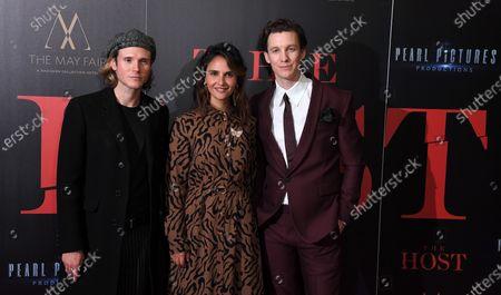 Dougie Poynter, Maryam Hassouni and Mike Beckingham
