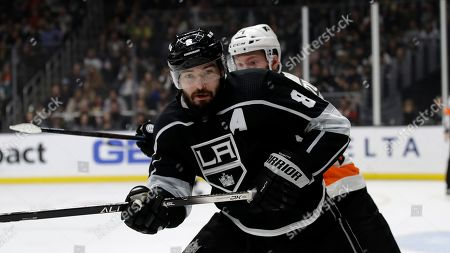 Los Angeles Kings' Drew Doughty during an NHL hockey game against the Philadelphia Flyers, in Los Angeles