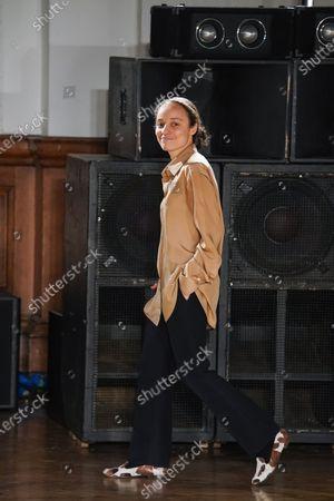 Grace Wales Bonner on the catwalk