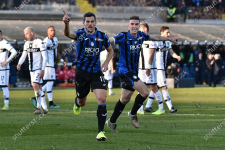 Atalanta's Remo Freuler jubilates after scoring the 2-0 lead during the Italian Serie A soccer match Atalanta BC vs Parma Calcio at the Gewiss Stadium in Bergamo, Italy, 06 January 2020.