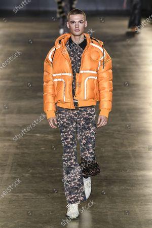 Editorial picture of Astrid Andersen show, Runway, Fall Winter 2020, London Fashion Week Men's, UK - 05 Jan 2020