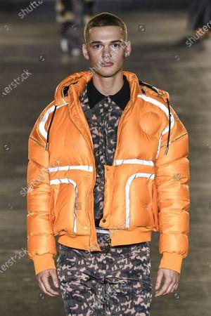 Editorial photo of Astrid Andersen show, Runway, Fall Winter 2020, London Fashion Week Men's, UK - 05 Jan 2020