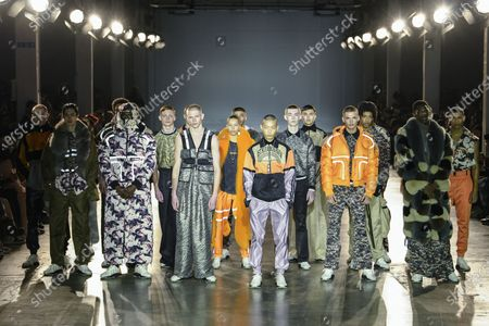 Editorial image of Astrid Andersen show, Runway, Fall Winter 2020, London Fashion Week Men's, UK - 05 Jan 2020