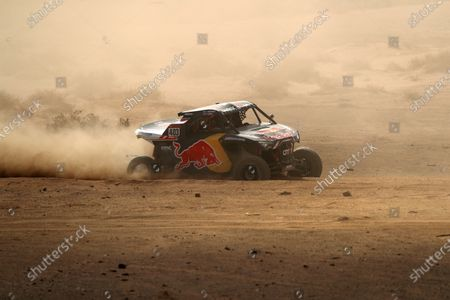 Stock Photo of French driver Cyril Despres and his Swiss co-pilot Michael Horn in action during the stage two of the Rally Dakar 2020 between Al Wajh and Neom, in Saudi Arabia, 06 January 2020. The Rally Dakar takes place in Saudi Arabia from 05 to 17 January 2020.