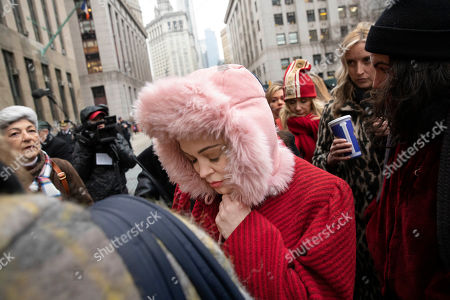 Actor Rose McGowan at a Manhattan courthouse after the arrival of Harvey Weinstein, in New York. Weinstein is on trial on charges of rape and sexual assault, more than two years after a torrent of women began accusing him of misconduct