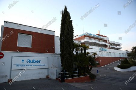 A view of the exterior of the Ruber Internacional Hospital in Madrid, Spain, 06 January 2020, where Spain's Infanta Pilar de Borbon, sister of Spain's Emeritus King Juan Carlos I, checked in earlier that day.