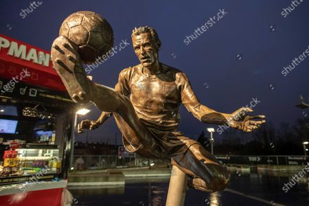 Dennis Bergkamp statue during the The FA Cup match between Arsenal and Leeds United at the Emirates Stadium, London