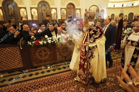 Editorial picture of Egyptian President al-Sisi attends Orthodox Christmas, Cairo, Egypt - 06 Jan 2020