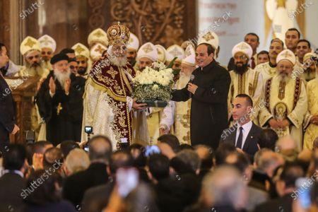 Editorial image of Egyptian President al-Sisi attends Orthodox Christmas, Cairo, Egypt - 06 Jan 2020