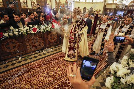 Pope Tawadros II of Alexandria leads Egypt's Coptic Christmas eve Mass in Cairo, Egypt, 06 January 2020.