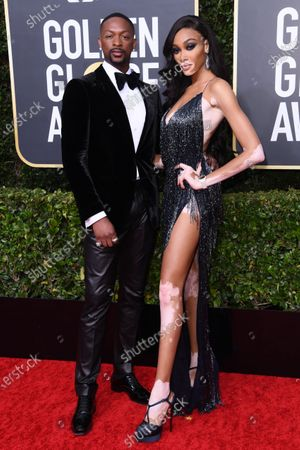 Stock Photo of LaQuan Smith and Winnie Harlow