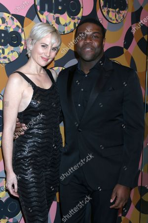 Stock Picture of Sam Richardson and wife