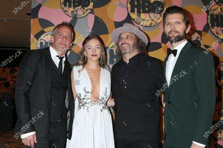 Stock Photo of Jean-Marc Vallee, Sydney Sweeney, Nathan Ross, and Adam Scott