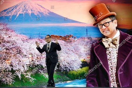 Toyota CEO Akio Toyoda likened himself to Willy Wonka as he talks about building the prototype Toyota city of the future, called the Woven City that will be a fully connected ecosystem powered by hydrogen fuel cells, before the CES tech show, in Las Vegas