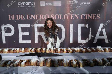 Stock Photo of Paulina Davila participates in the press conference of the movie 'Perdida', in Mexico City, Mexico, 06 January 2020.