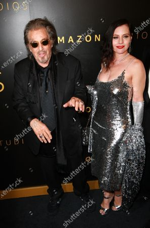 Stock Picture of Al Pacino and Meital Dohan