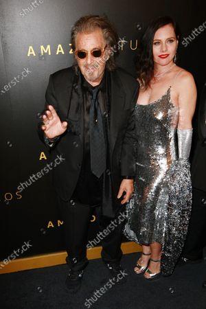 Stock Image of Al Pacino and Meital Dohan