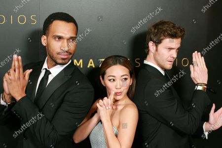 Nathan Mitchell, Jack Quaid and Karen Fukuhara