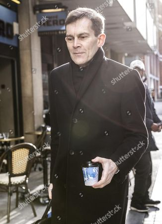 Stock Photo of Seumas Milne, Labour Party Executive Director of Strategy and Communications, arriving at the Labour National Executive Committee (NEC) strategic meeting at the Labour Party HQ to decide on the leadership contest dates