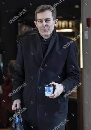 Seumas Milne, Labour Party Executive Director of Strategy and Communications, arriving at the Labour National Executive Committee (NEC) strategic meeting at the Labour Party HQ to decide on the leadership contest dates