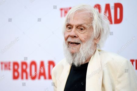 John Baldessari poses at The Broad museum's opening and inaugural dinner in Los Angeles. Baldessari, who pioneered a new genre of art in the 1970s and in the process helped elevate Los Angeles' status in the art world from that of back-water berg to a center of the conceptual movement, has died at age 88. Baldessari died Thursday at his home in Los Angeles, the artist's representatives at New York's Marian Goodman Gallery, confirmed Monday, Jan. 6, 2020