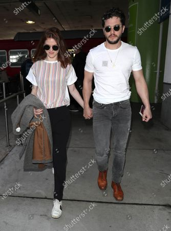 Stock Picture of Rose Leslie and Kit Harington