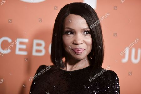 """Elise Neal attends the LA premiere of """"Just Mercy"""" at Cinemark Baldwin Hills, in Los Angeles"""