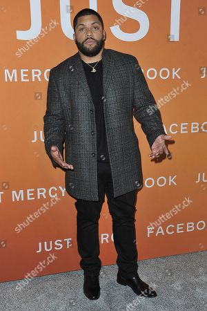 """O'Shea Jackson Jr. attends the LA premiere of """"Just Mercy,"""" at Cinemark Baldwin Hills, in Los Angeles"""