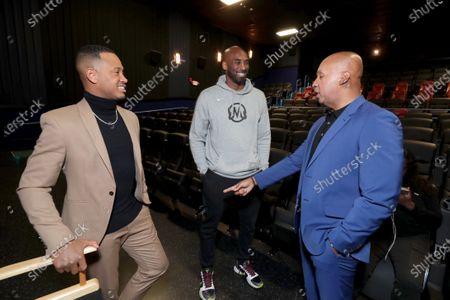 Stock Photo of Terrence J, Kobe Bryant, Bryan Stevenson, Author/Executive Producer,