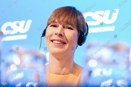 Estonian President Kersti Kaljulaid attends the annual Christian Social Union (CSU) party meeting at Kloster Seeon (Seeon Abbey), in Seeon, Germany, 07 January 2020. The closed door meeting of the CSU state parliamentary group will be held in the educational institution of former Benedictine monastery Seeon Abbey from 06 to 08 January 2020