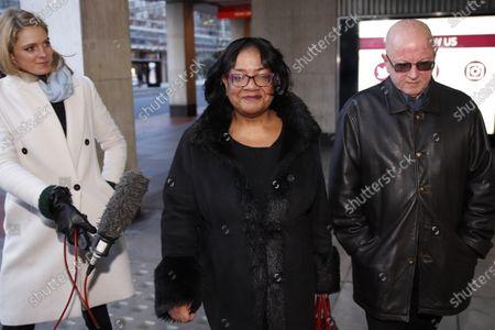 Shadow Home Secretary Diane Abbott arrives at Labour party headquarters