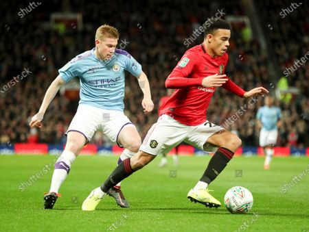 Editorial image of Manchester United v Manchester City, EFL Carabao Cup, Semi-Final 1st Leg, Football, Old Trafford, UK - 07 Jan 2020