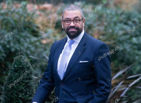 James Cleverly, Minister without Portfolio, arrives for the Cabinet meeting