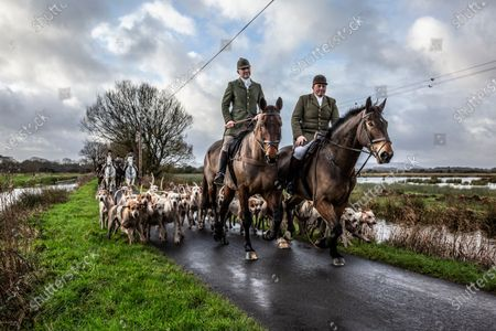 Stock Picture of Ivan Massow, master of the Southdown and Eridge Hunt, photographed on a weekend meet at Halisham, East Sussex, United Kingdom