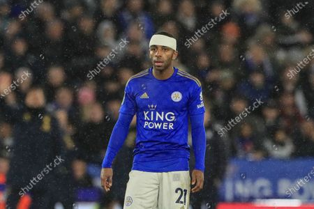 8th January 2020, King Power Stadium, Leicester, England; Carabao Cup, Semi-final,  Leicester City v Aston Villa : Ricardo Pereira (21) of Leicester City with a bandage after receiving a cut to his head Credit: Mark Cosgrove/News Images