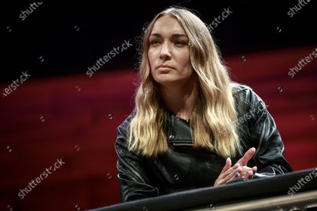 Ukrainian activist and Femen leader Inna Shevchenko attends a discussion with Charlie Hebdo Editorial team on the 'Freedom of Speech' on the fifth anniversary of the attack against the satirical weekly French newspaper, in Paris, France, 07 January 2020. 07 January 2020 sees the fifth anniversary of a row of terrorist attacks in Paris, with the storming of armed Islamist extremists of the satirical newspaper Charlie Hebdo on 07 January 2015 starting three days of terror in the French capital.
