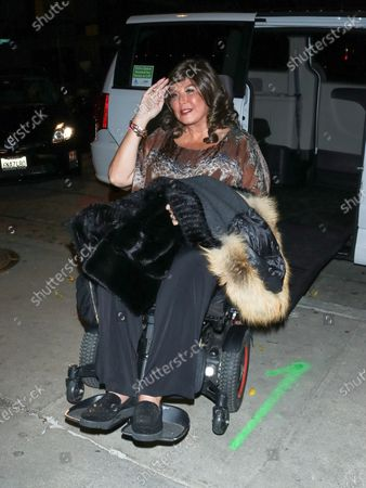 Abby Lee Miller at Craig's Restaurant in West Hollywood
