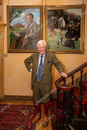 Stock Photo of Sir Benjamin Slade (72) Millionaire aristocrat and Brexiteer on his 2,000-acre Maunsel House estate, North Newton